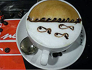 25 diseños de arte Latte Over the Top